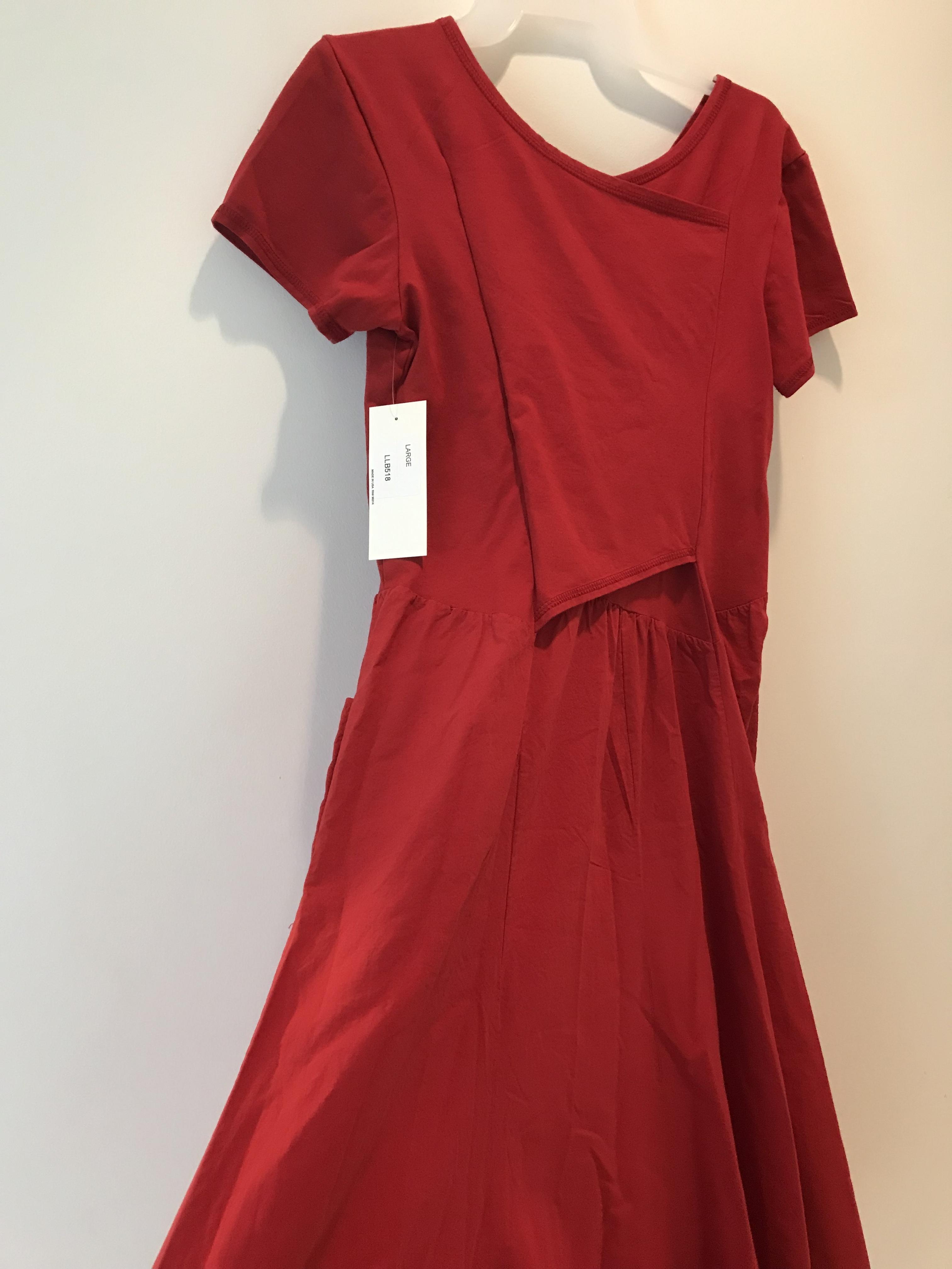 Luna Luz: Short Sleeve Cross Over Bodice Long Dress  (Ships Immed in Bonfire, 1 Left!)