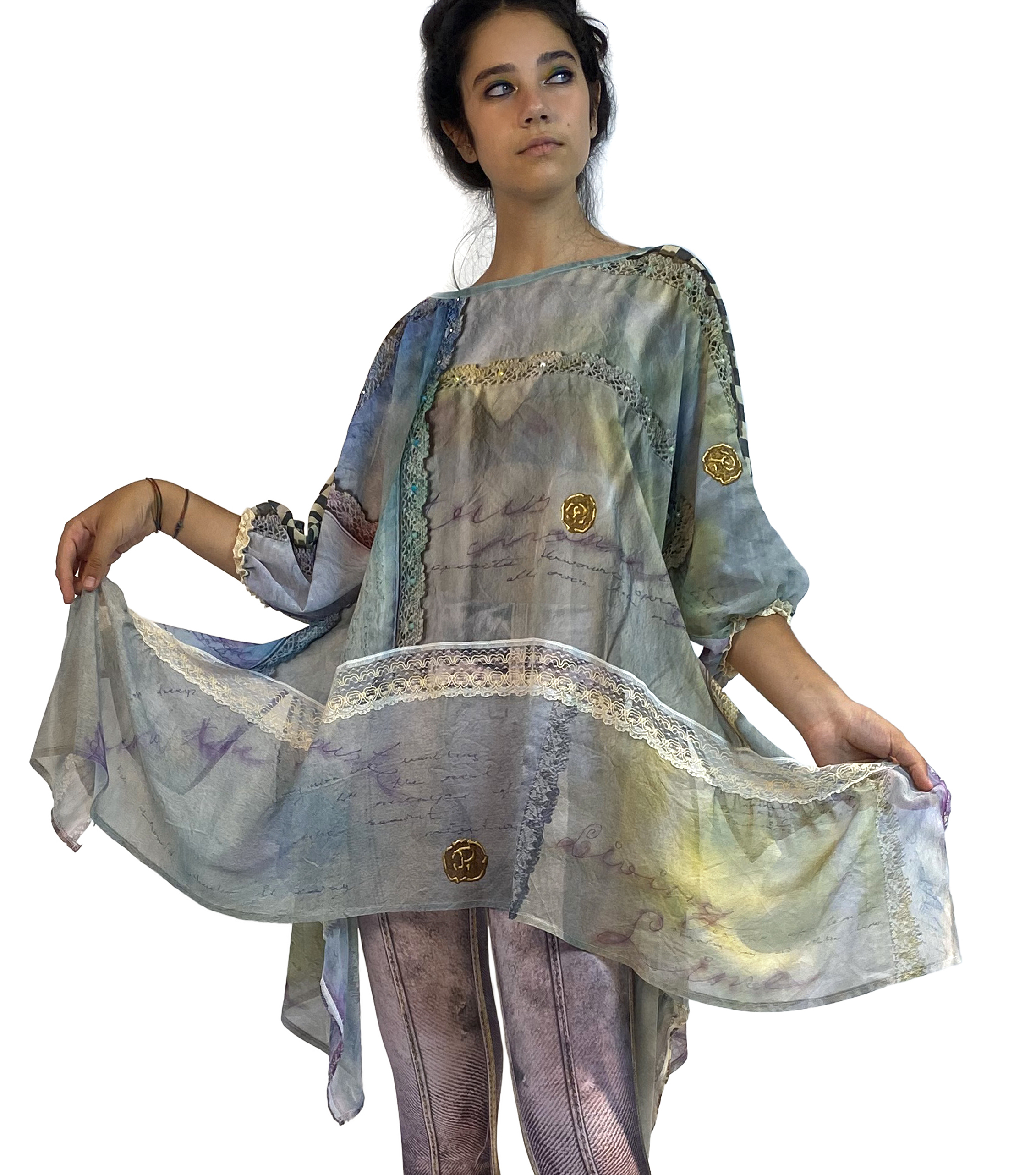 IPNG: Never Enough Color Flared Long Tunic (Some Ship Immed!) IPNG_NECTU-032