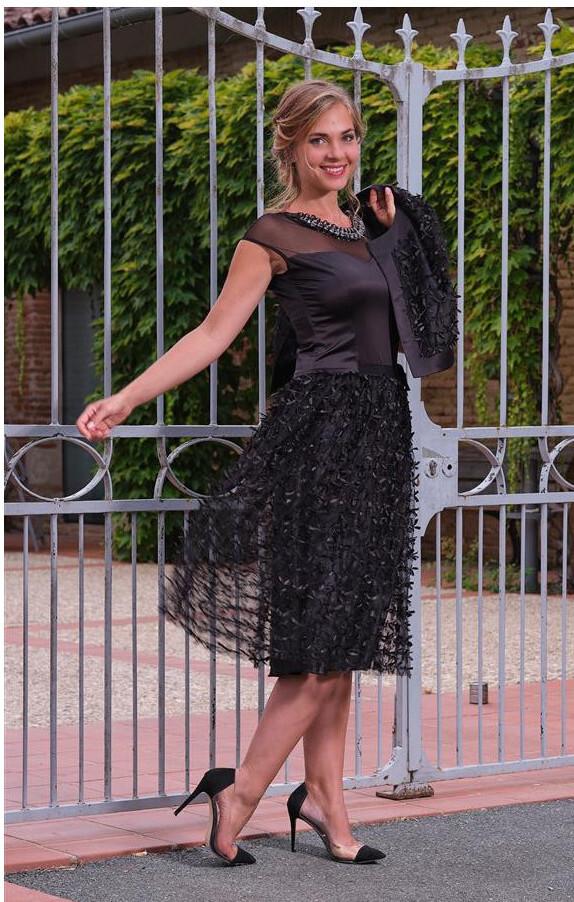 Paul Brial: Sweetheart Satin Midi Cocktail Dress (In Black & Ivory!)