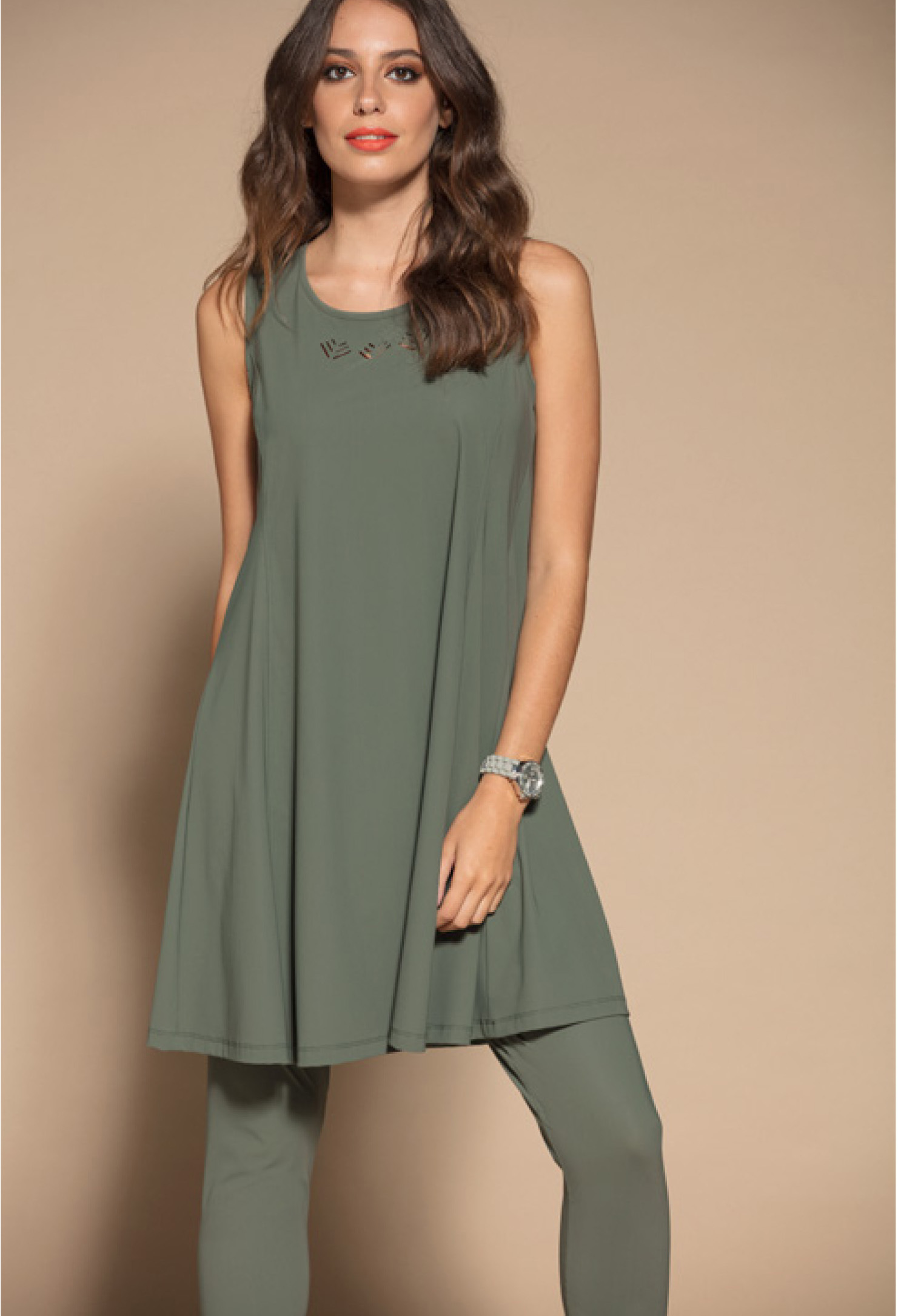 Maloka: Sleek Swirl Decolletage Flare Tunic (Click for more colors!)