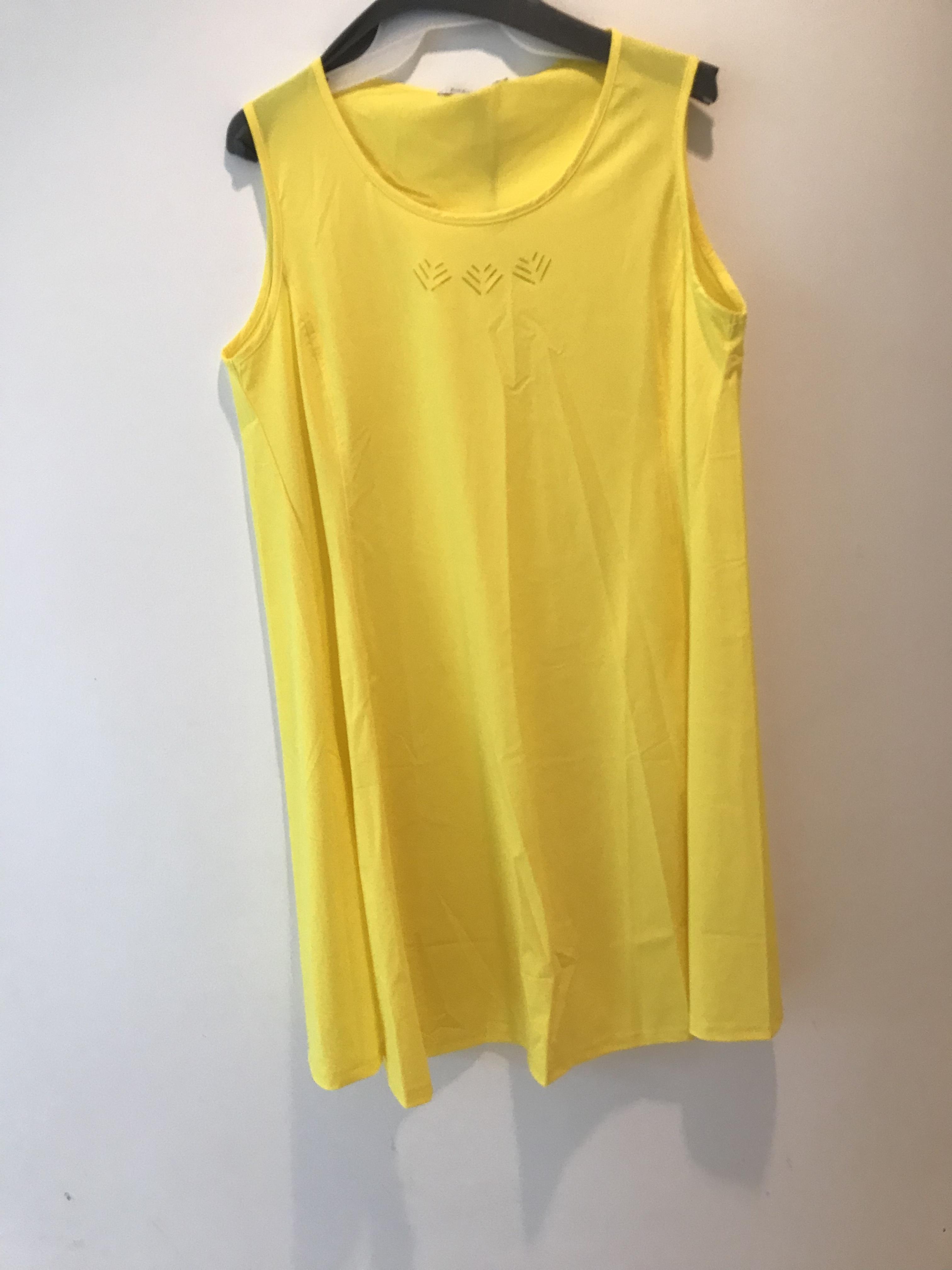 Maloka: Sleek Swirl Decolletage Flare Tunic (Click for more colors!) MK_KAROLE_YELLOW
