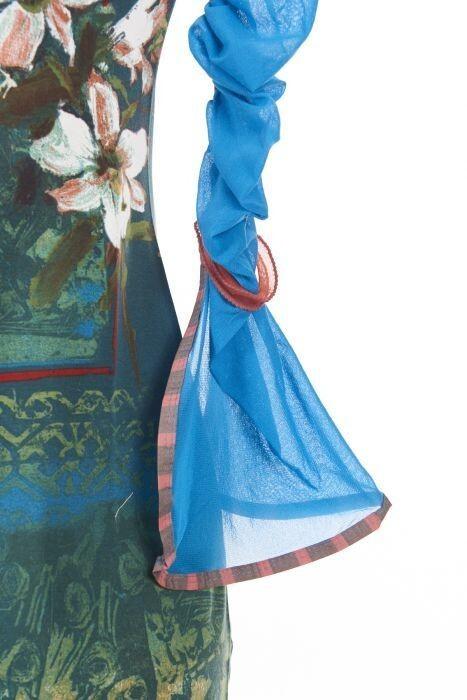 Save The Queen Italy: Monet Garden With Tulip Sleeves Maxi Dress
