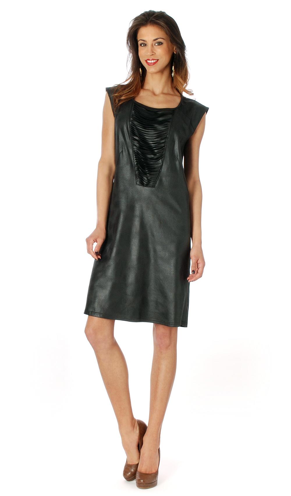 Femme Je Vous Paris: Midnight Suede Sexy Dress (Few Left!) FMJV_SUEDE