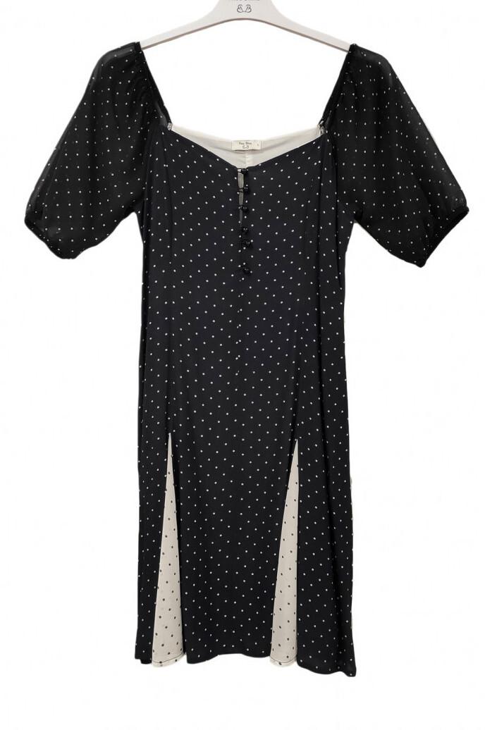 Paul Brial: Little Black & White Puff Sleeve Dress (2 Left!)