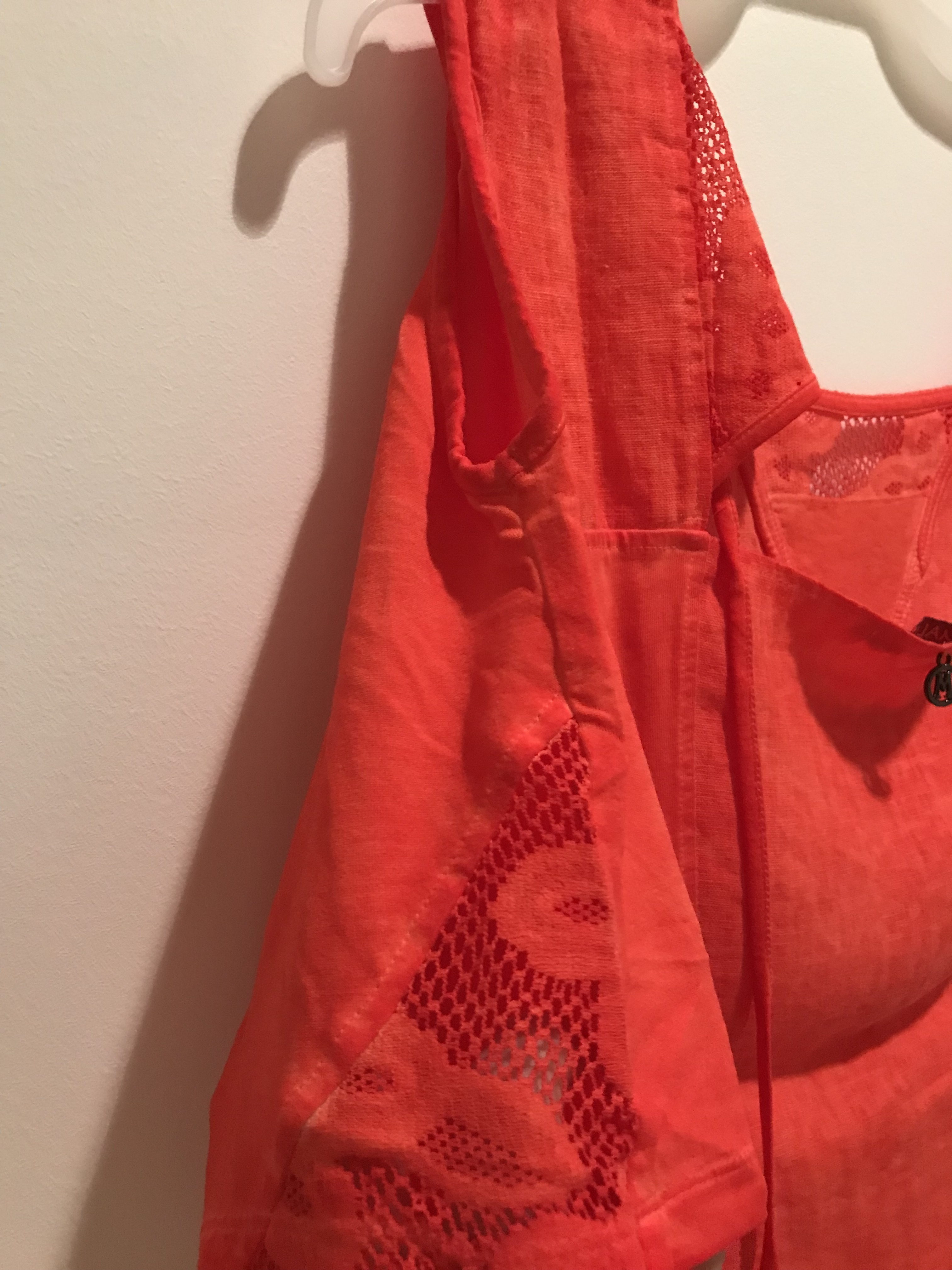 Maloka: Cutout Shoulder Princess Seam Linen Stretch Dress (1 left in Zest)