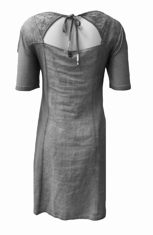 Maloka: Cutout Shoulder Princess Seam Linen Stretch Dress (1 Left in Off White!)