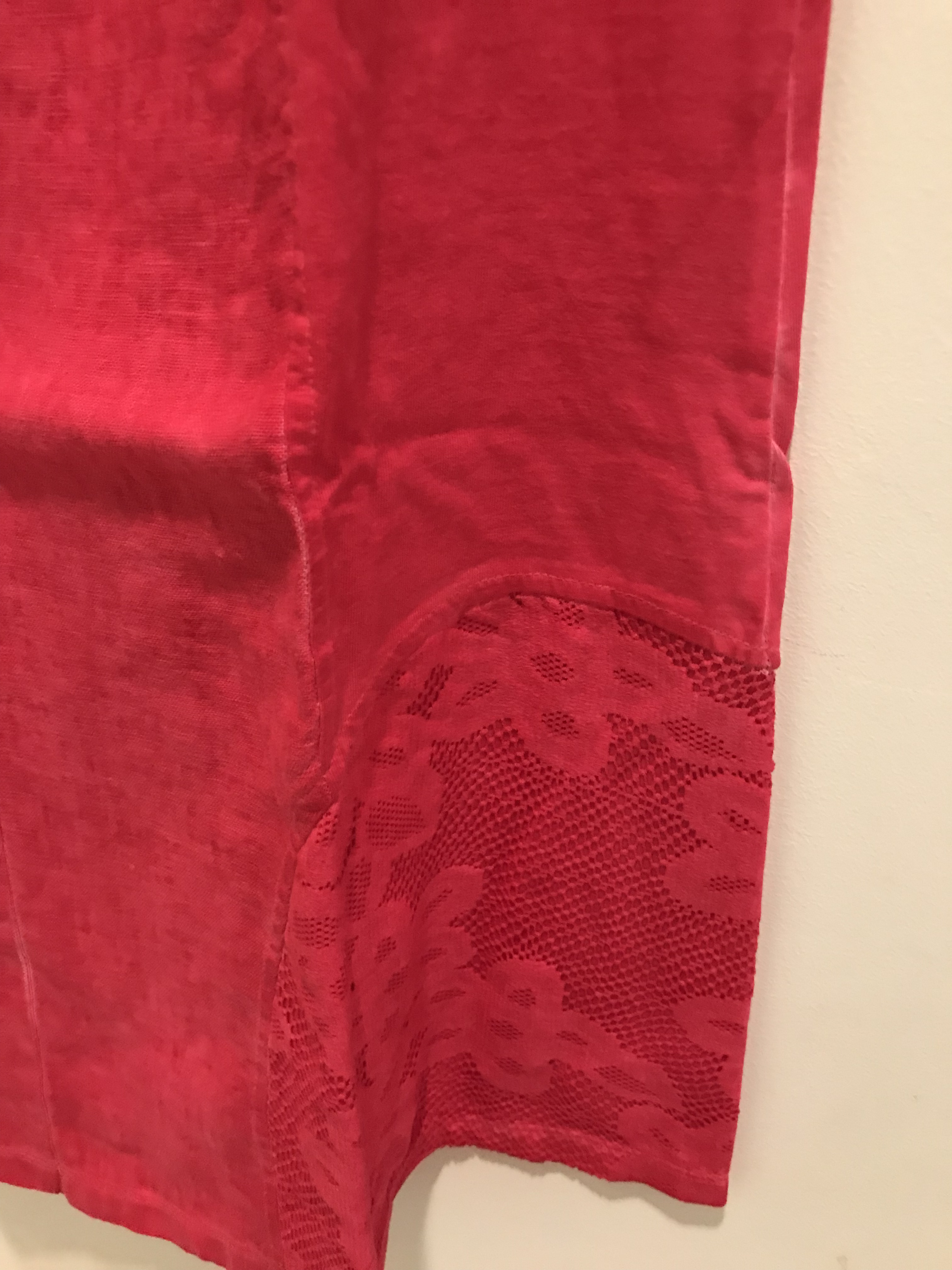 Maloka: Cutout Shoulder Princess Seam Linen Stretch Dress (1 left in Fuschia!)