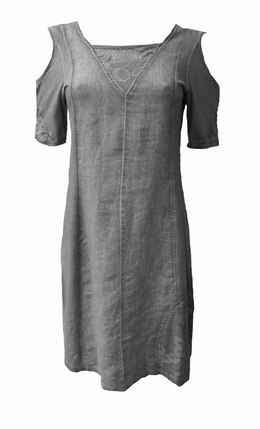Maloka: Cutout Shoulder Princess Seam Linen Stretch Dress (1 Left in Off White!) MK_TALLIA_Off White_Sand