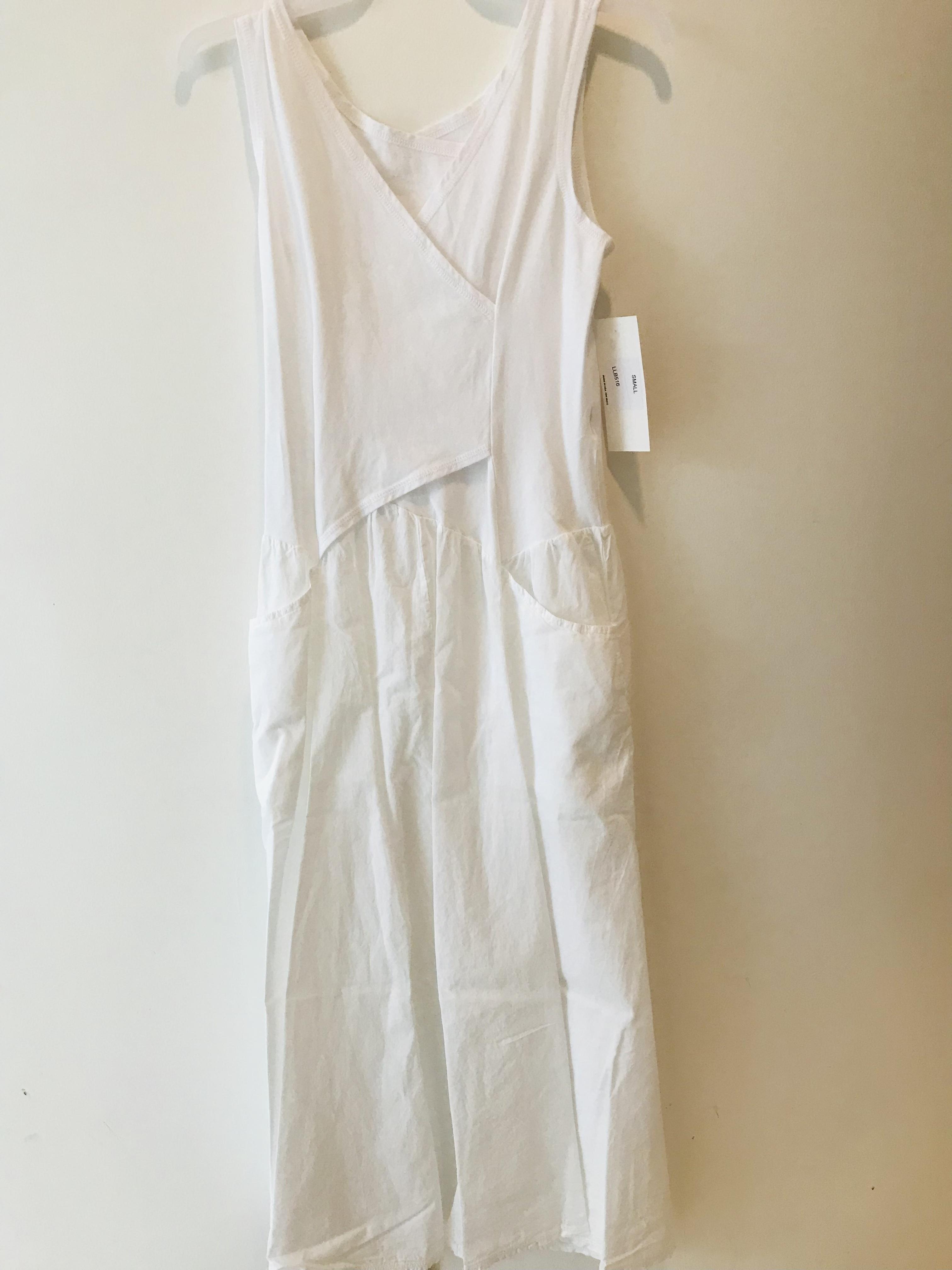 Luna Luz: Cross Over Bodice Maxi Dress (Ships Immed in White, 2 Left!)