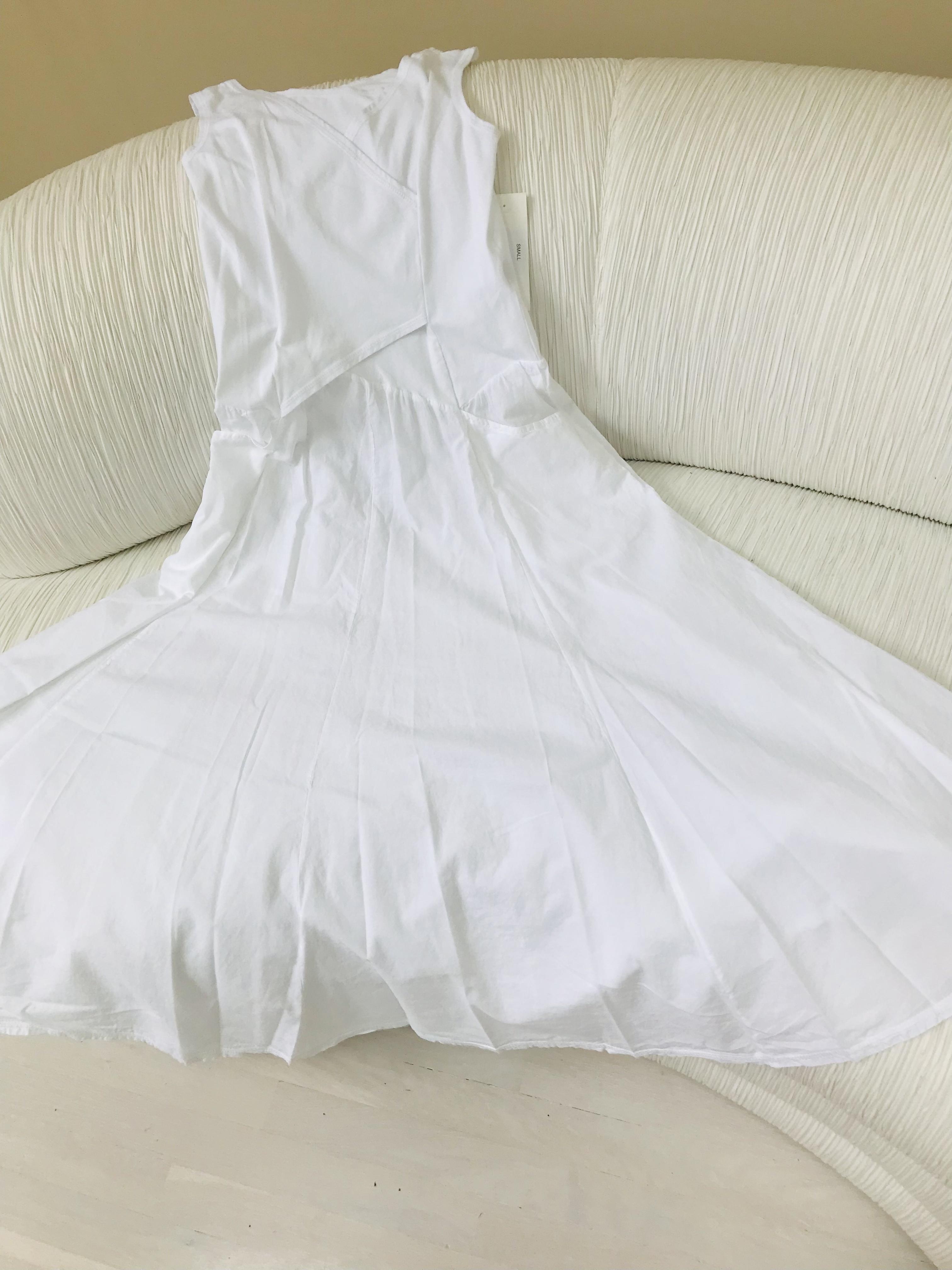 Luna Luz: Cross Over Bodice Maxi Dress (Ships Immed in White, 2 Left!) LL_516_WHITE