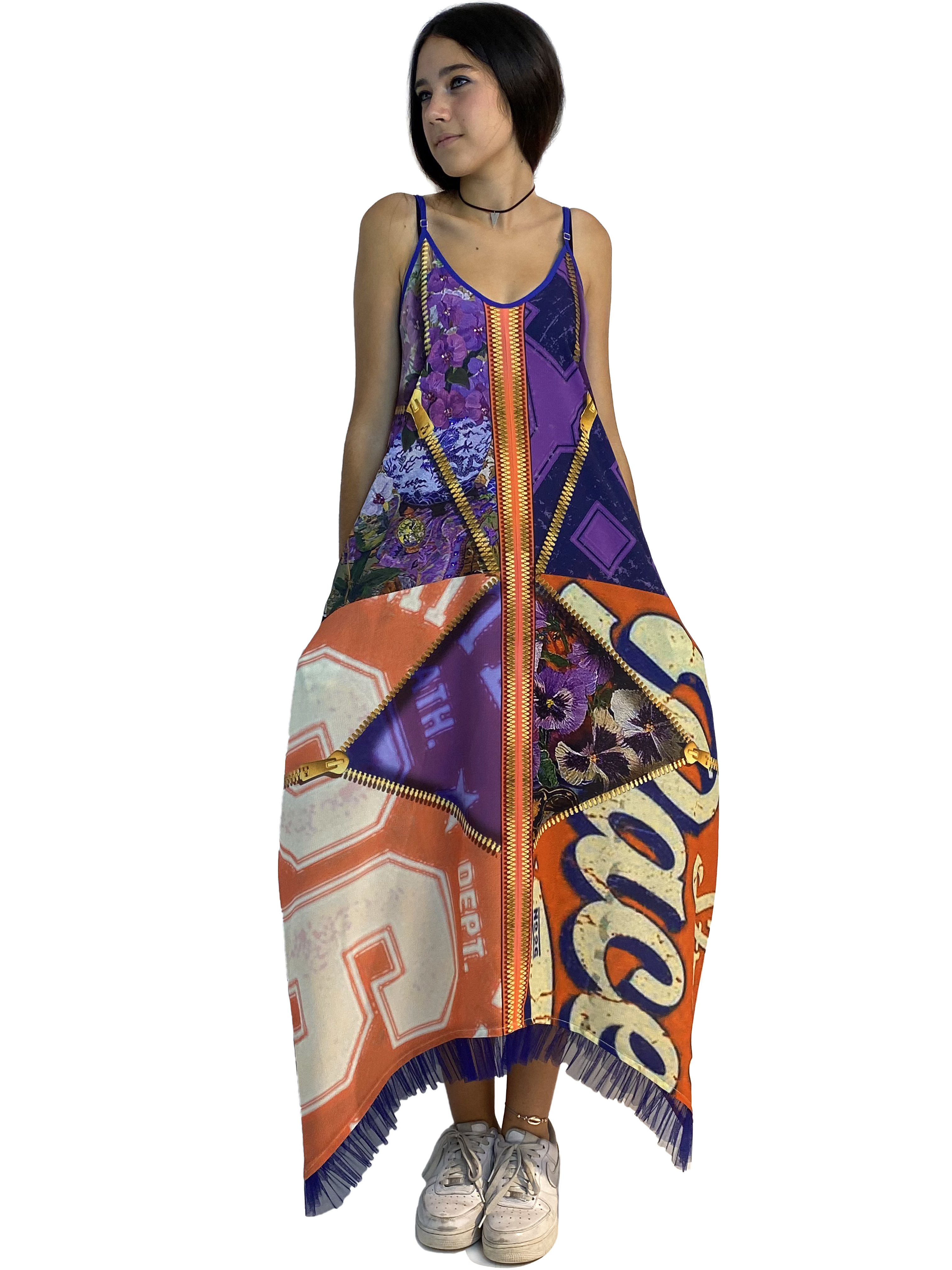 IPNG: Summer In A Flower Illusion Maxi V Pocket Dress IPNG_SIFDVN-052