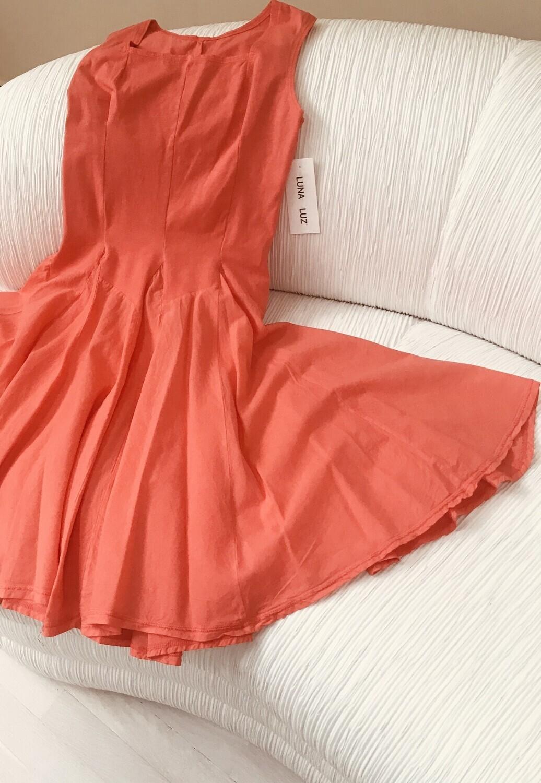 Luna Luz: Godet Dyed Square Neck Dress (More Arrived, Ships Immed, 1 Left!)