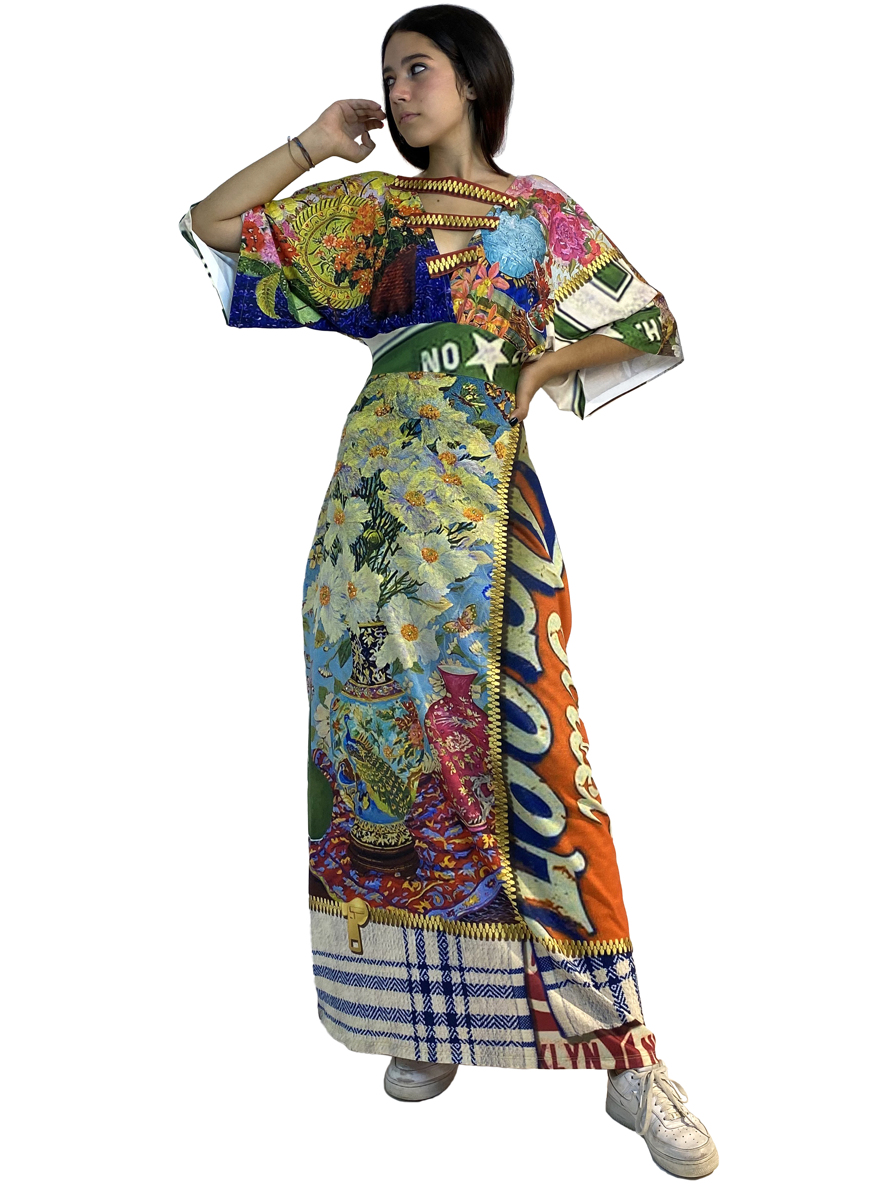 IPNG: Summer In A Flower Illusion Kimono Dress IPNG_SIFSDL-051