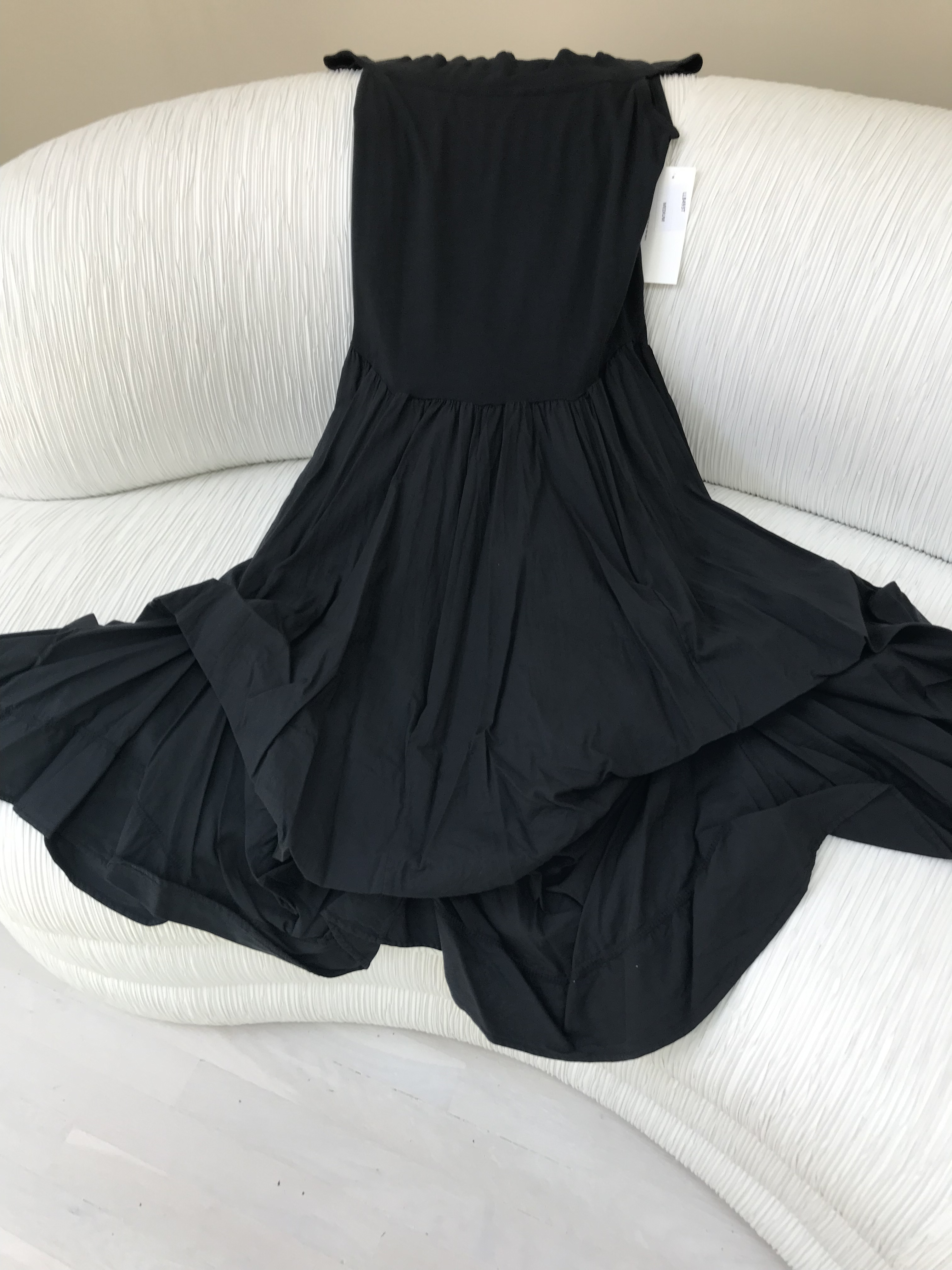 Luna Luz: Sleeveless Tied and Dyed Dress (Ships Immed, 1 Left in Black!) LL_493T_BLACK