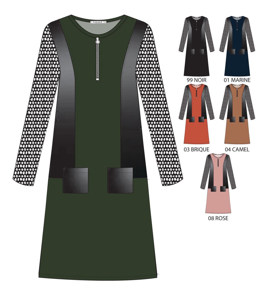 Maloka: My Olive Martini Faux Leather Pocket Dress (Few Left!)