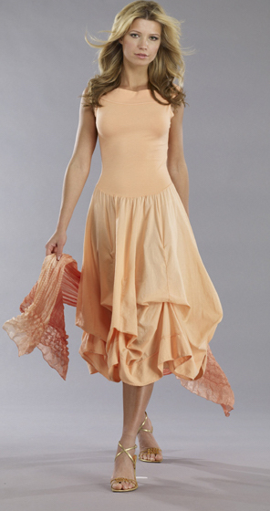 Luna Luz: Sleeveless Tied and Dyed Dress (Ships Immed, 1 Left in Black!)
