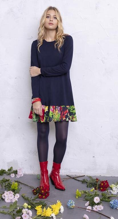 Maloka: Floral Flounce Sweater Dress (More Colors!) MK_ELVIRE