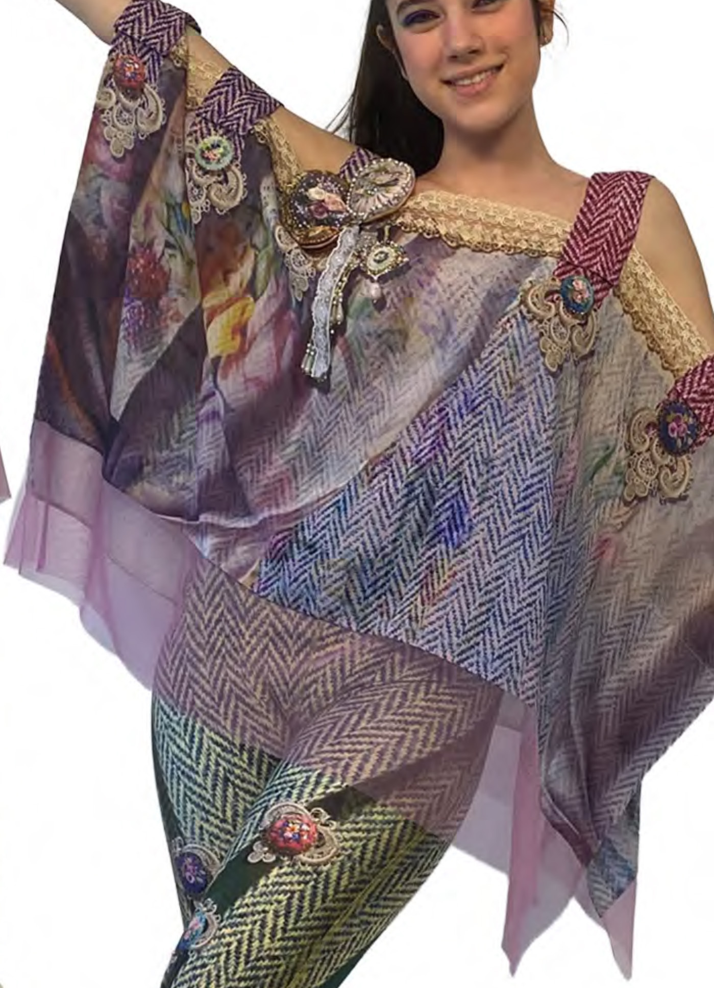 IPNG: Mood Of Flavour Shawl Blouse IPNG_MFSB-070