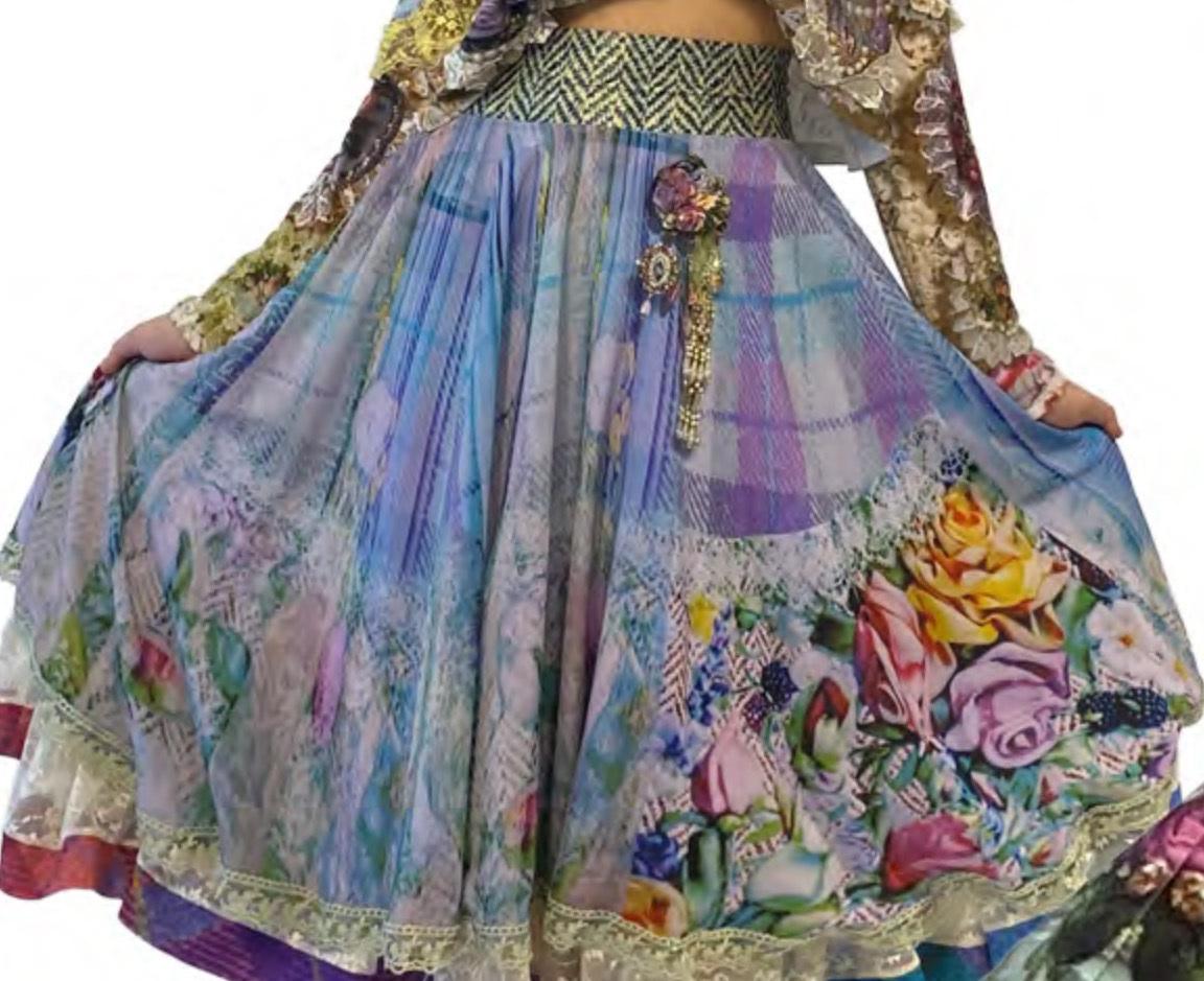 IPNG: Mood Of Flavour Chiffon Midi Illusion Skirt IPNG_MFSKS-067