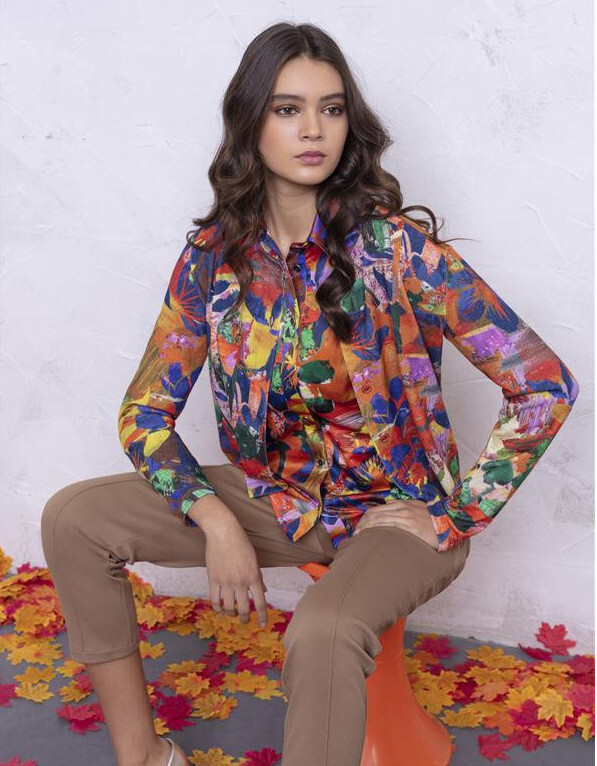Maloka: Electric Blue Blooms Tricot Cardigan (3 Left!)