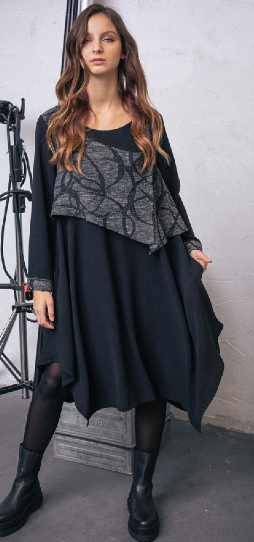 G!oze: Victorian Slurp Flared Asymmetrical Dress/Tunic G_GINETTE