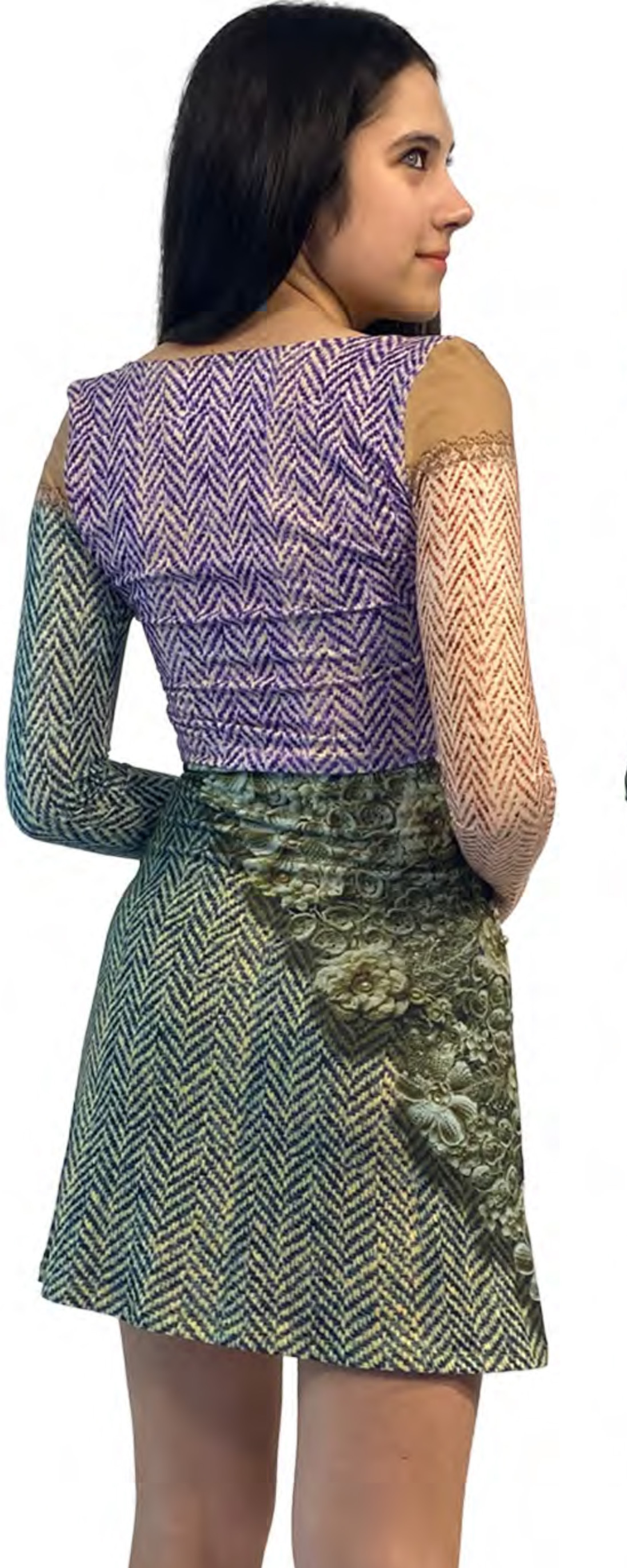 IPNG: Mood Of Flavour Tweed Illusion Flared Mini Skirt