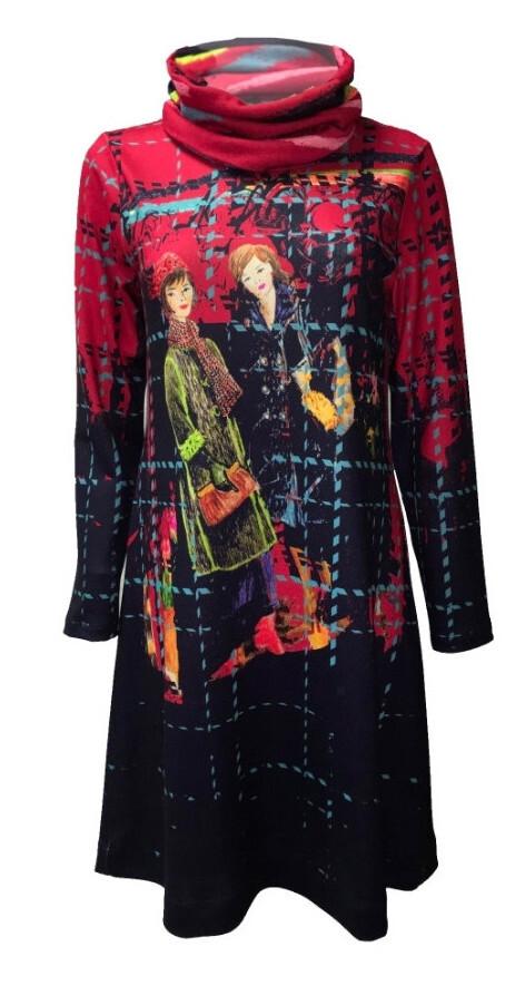 Maloka: Bestie Beauties on a Tweed Canvas Art Dress