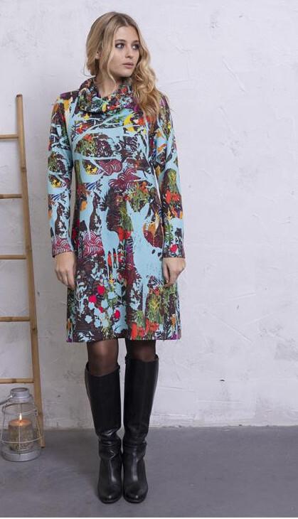 Maloka: Anime Forest Art Sweater Dress MK_FAYLEE