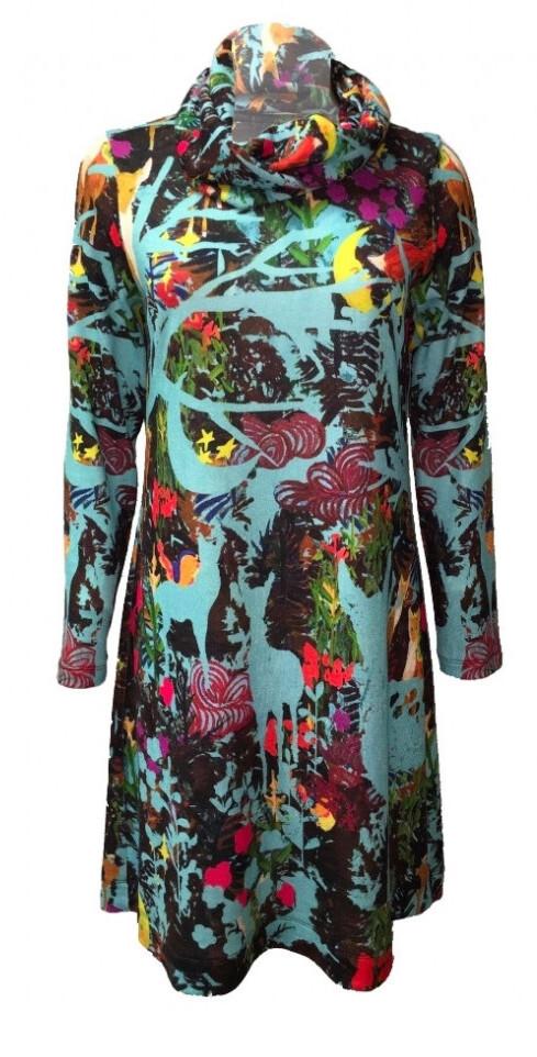 Maloka: Anime Forest Art Sweater Dress