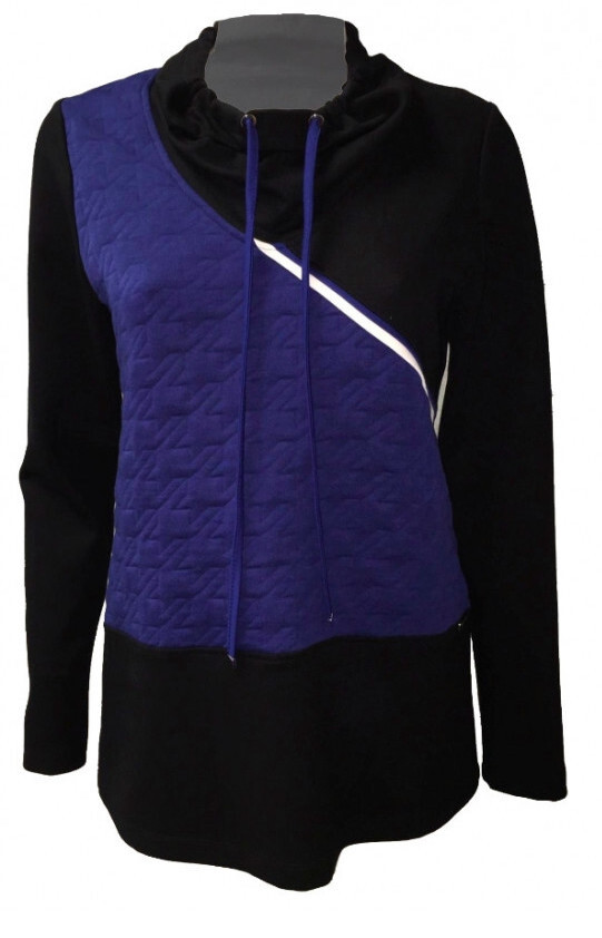 Maloka: Color Contrast Quilted Sweater
