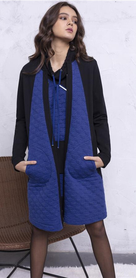 Maloka: Color Contrast Quilted Zip Coat (Few Left!) MK_MABRY