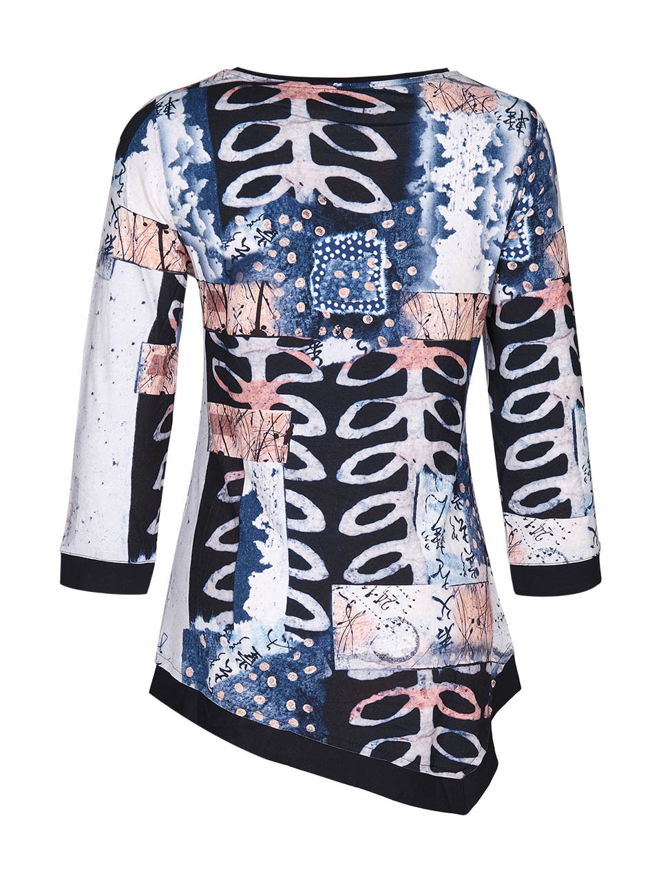 Simply Art Dolcezza: Papers In Color Asymmetrical Art Tunic (Few Left!)