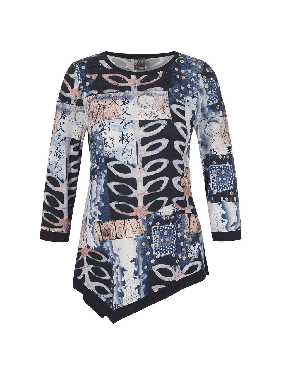 Simply Art Dolcezza: Papers In Color Asymmetrical Art Tunic (Few Left!) Dolcezza_SimplyArt_71731