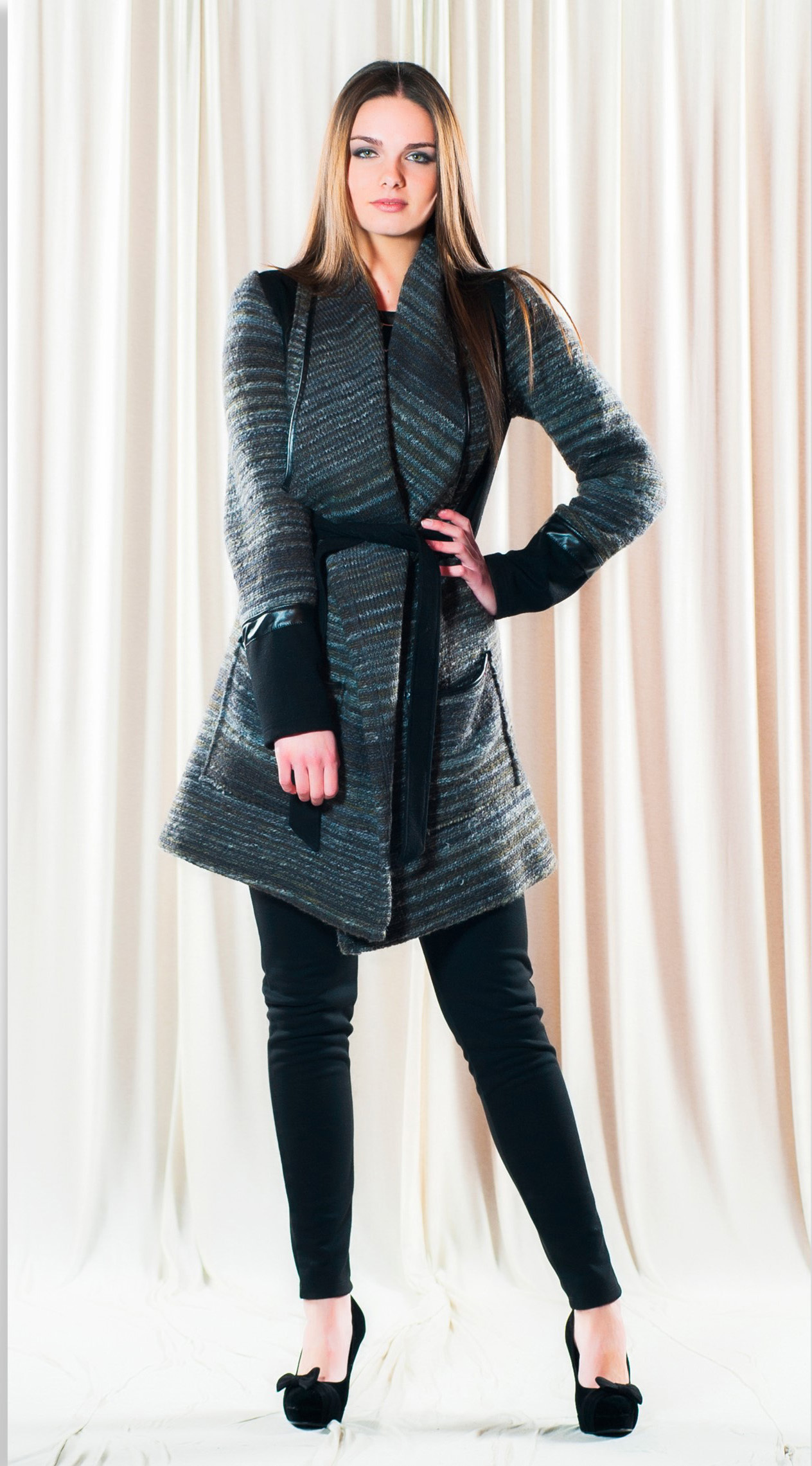 Maloka: Bacari Fleece & Wool Coat MK_BACARI_MANTEAU_N