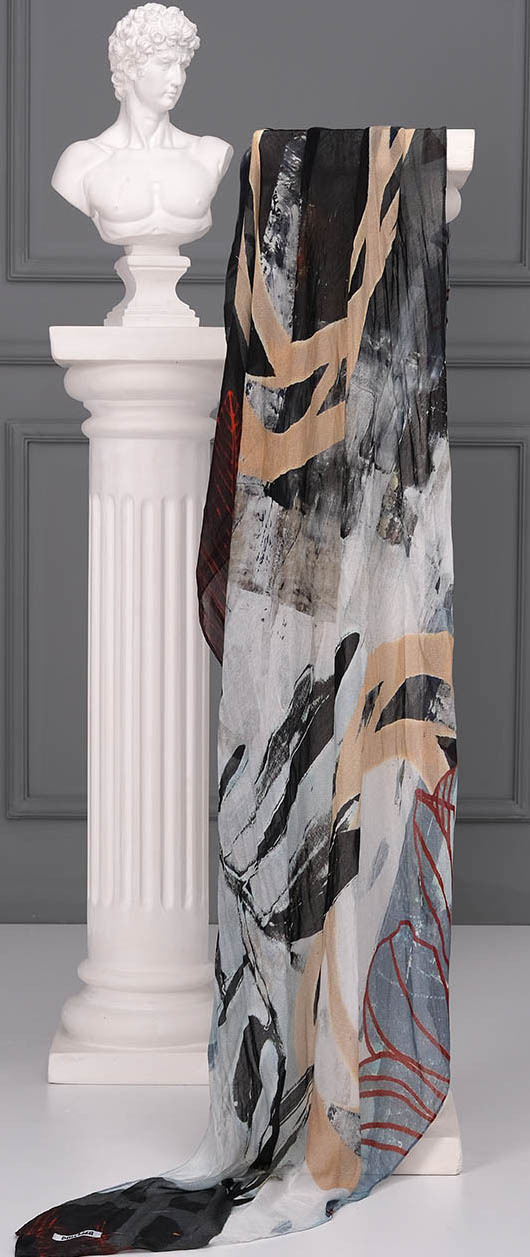 Simply Art Dolcezza: Silent Mood Abstract Art Scarf (1 Left!)