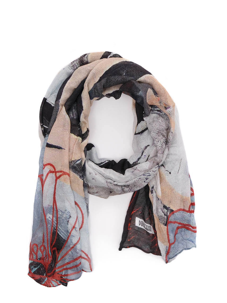 Simply Art Dolcezza: Silent Mood Abstract Art Scarf (1 Left!) Dolcezza_SimplyArt_71913