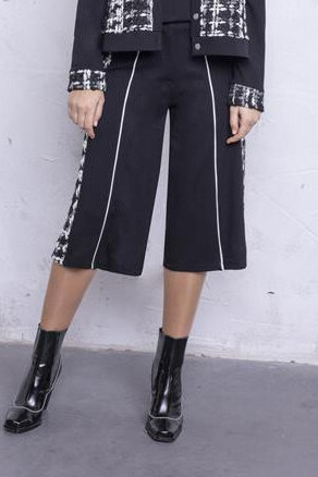 Maloka: The Colors Of Coco Chanel Jacquard Stretch Gaucho Pants MK_CHRISTY