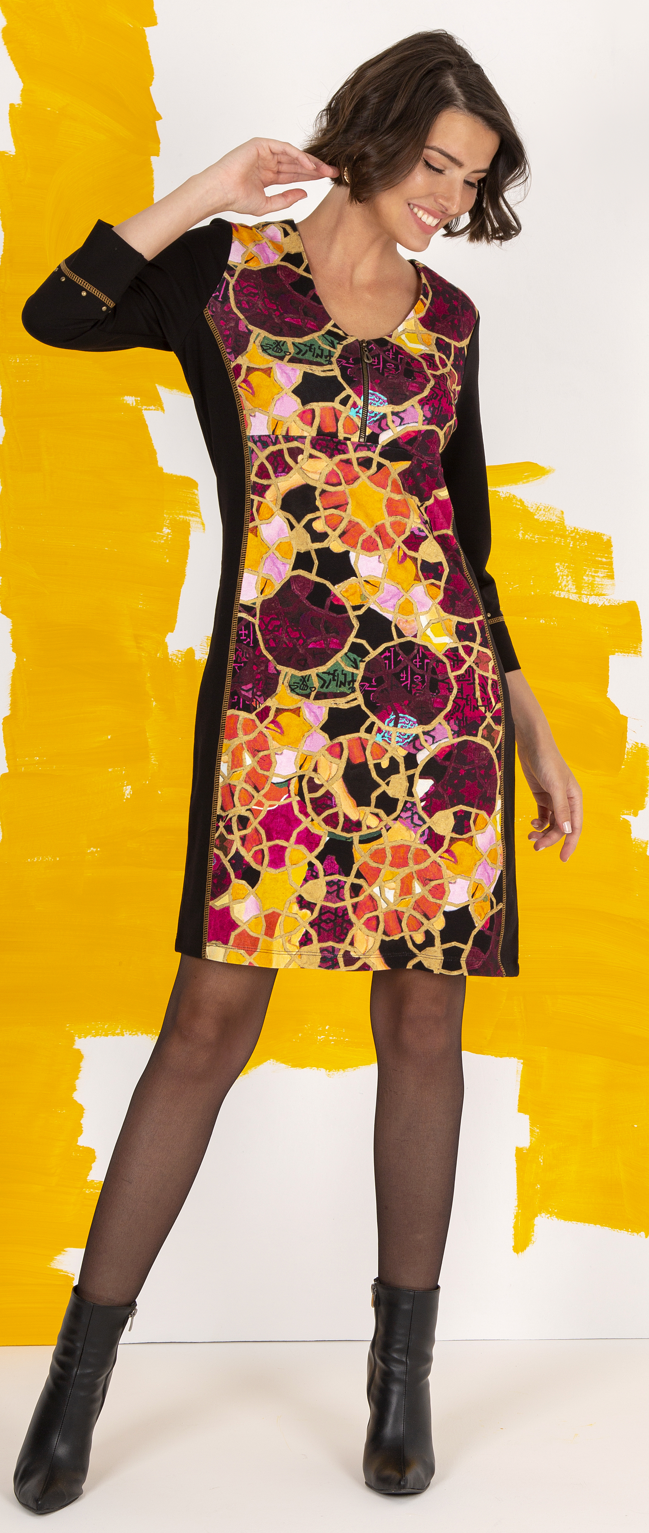 Simply Art Dolcezza: Blessings With Rings Abstract Art Dress Dolcezza_SimplyArt_71634