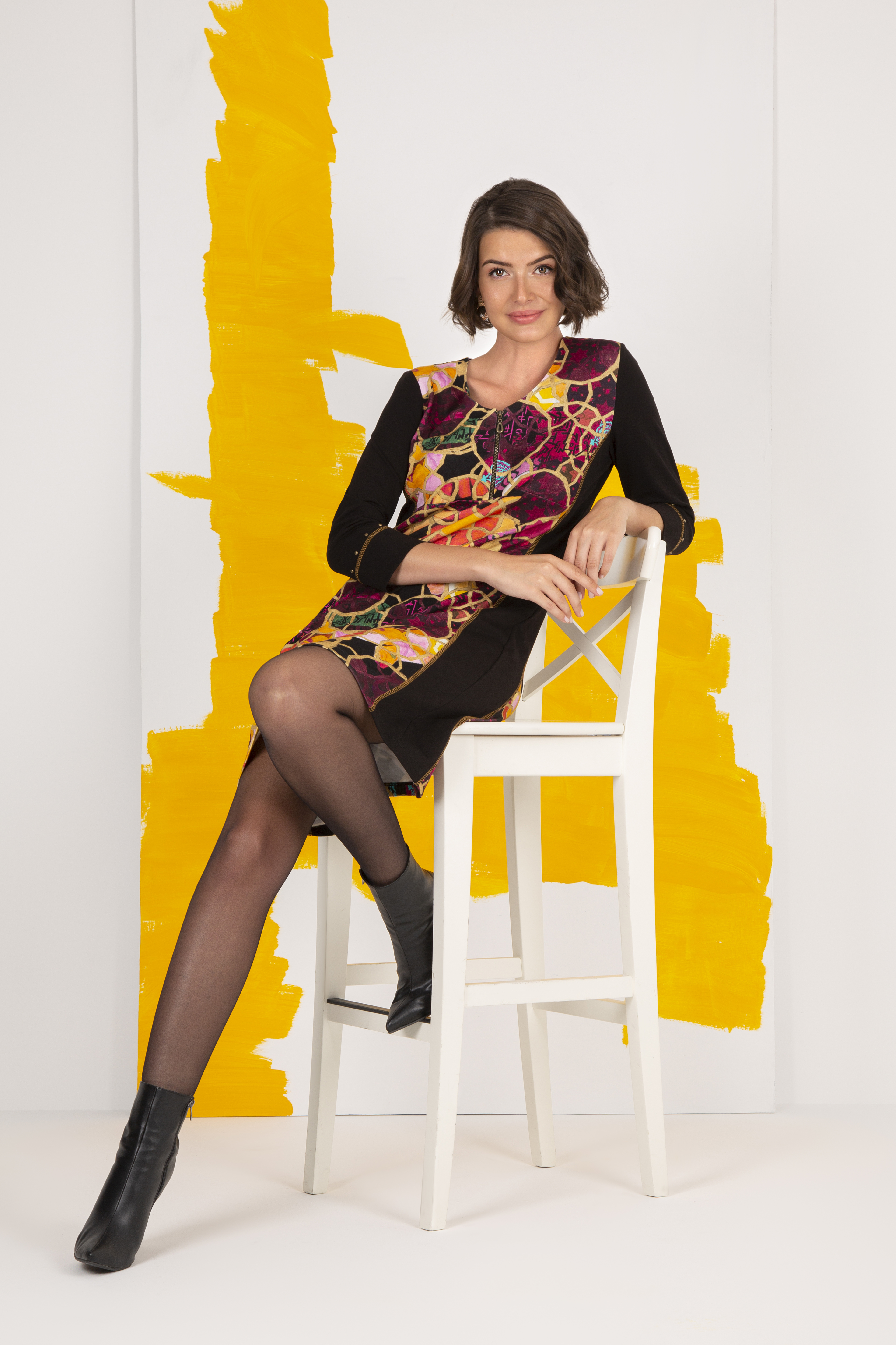 Simply Art Dolcezza: Blessings With Rings Abstract Art Dress