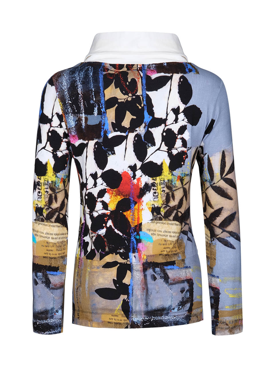 Simply Art Dolcezza: Split Cowl Neck Double OO Abstract Art Sweater Tunic (2 Left!)