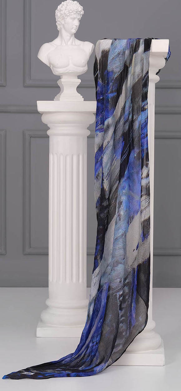 Simply Art Dolcezza: After Midnight Abstract Art Scarf Dolcezza_SimplyArt_71911