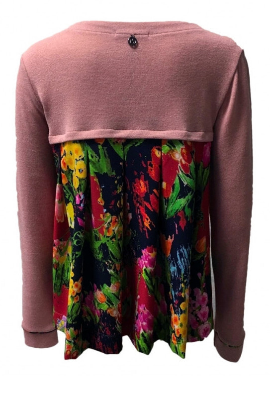 Maloka: Floral Flounce Tricot Sweater Cardigan (2 Left!)