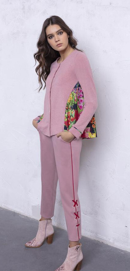 Maloka: Floral Flounce Tricot Sweater Cardigan (2 Left!) MK_EDYNA