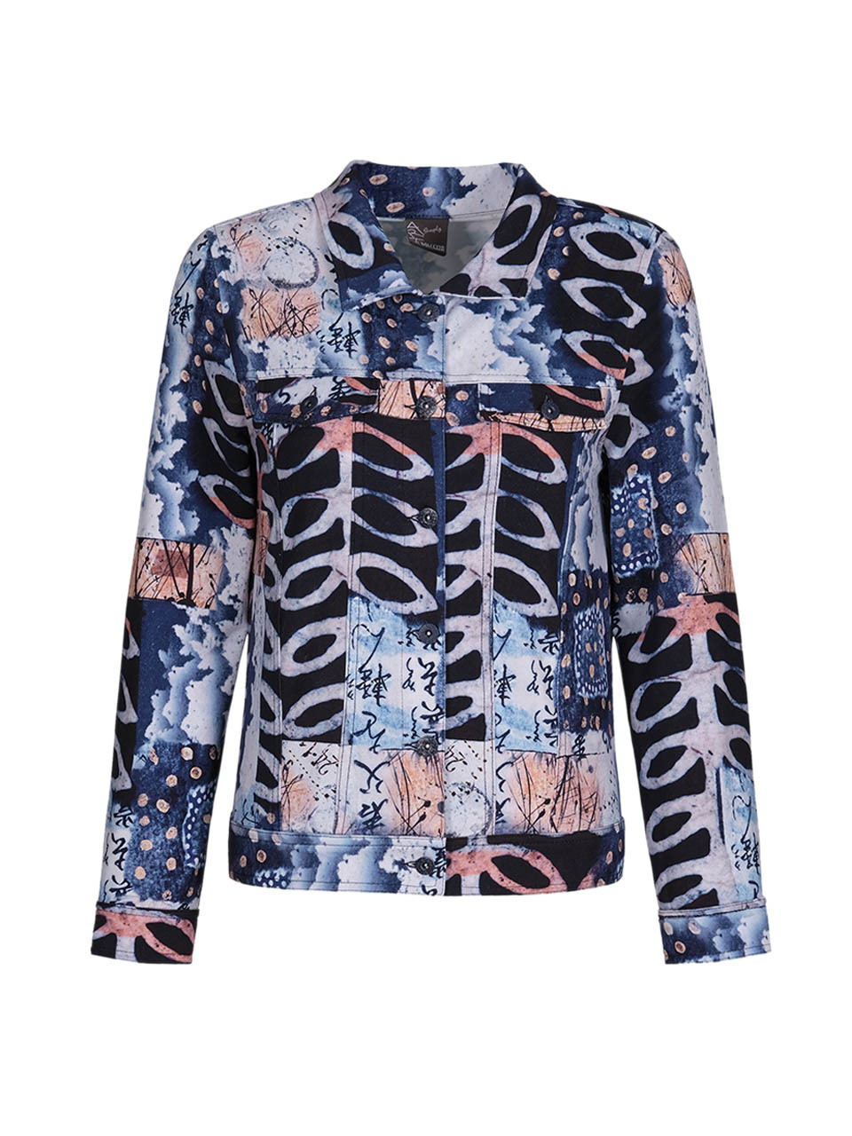 Simply Art Dolcezza: Papers In Color Abstract Art Soft Denim Jacket Dolcezza_SimplyArt_71736