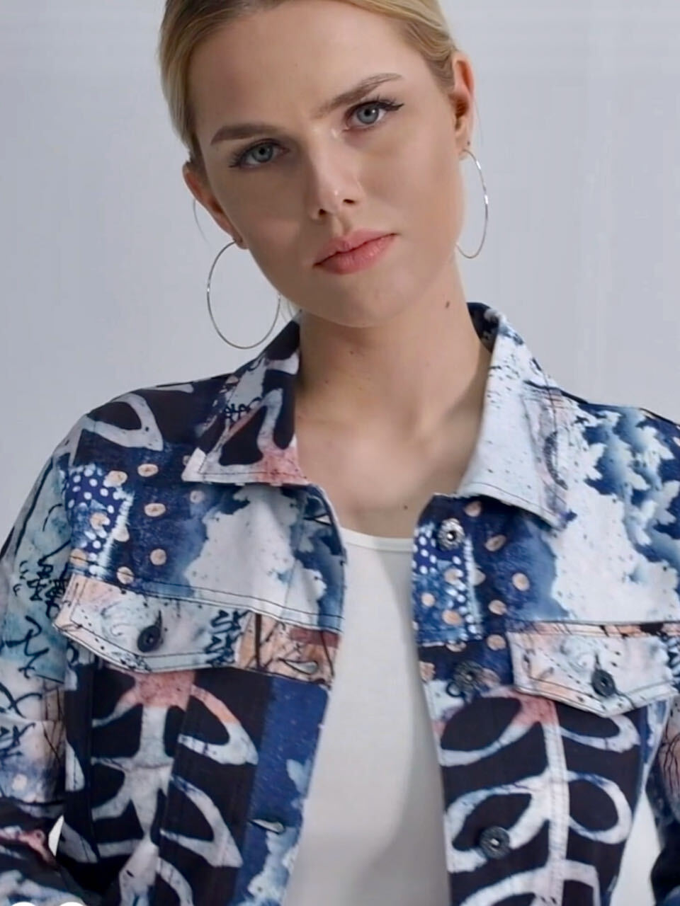 Simply Art Dolcezza: Papers In Color Abstract Art Soft Denim Jacket