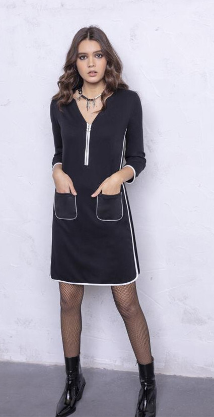 Maloka: Sexy Sketch Little Black Pocket Dress SOLD OUT MK_DALLYCE