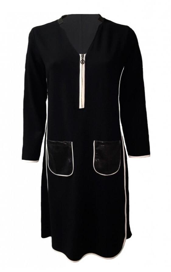 Maloka: Sexy Sketch Little Black Pocket Dress SOLD OUT
