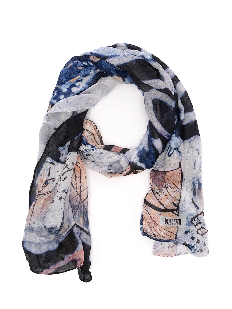 Simply Art Dolcezza: Papers In Color Abstract Art Scarf (1 Left!)