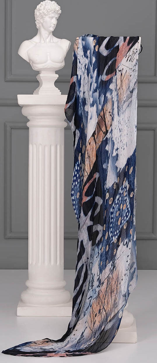 Simply Art Dolcezza: Papers In Color Abstract Art Scarf (1 Left!) Dolcezza_SimplyArt_71912