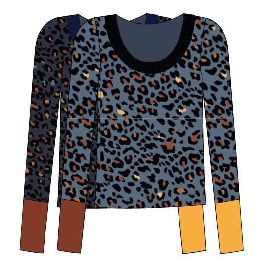 Paul Brial: Fancy Footprint Multi Cuffs Softy Sweater